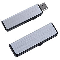 "USB flash-карта ""Pull"" (8Гб), серебристый, черный, , 19311_8Gb"
