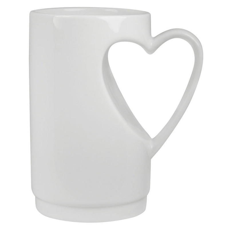 """Кружка  """"Сердце"""" в подарочной упаковке, белый, , 13616"""