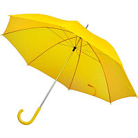 Зонт-трость с пластиковой ручкой, механический, Желтый, -, 7425 03