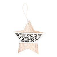 Украшение новогоднее STARRY, белый, бежевый, , 31002