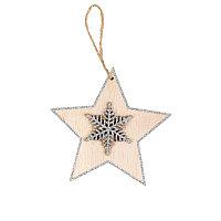 Украшение новогоднее SHINE BRIGHT, бежевый, серебристый, , 31000