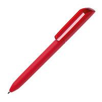 Ручка шариковая FLOW PURE c покрытием soft touch и прозрачным клипом, Красный, -, 29418 08