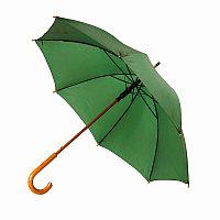 Зонт-трость SANTY, деревянная ручка, механический, Зеленый, -, 349215 15