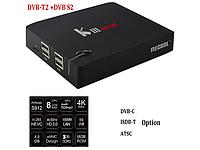 Смарт ТВ приставка Android TV BOX KIII Pro Hibrid ( Спутник+ ТВ+Интернет) 3G/16G