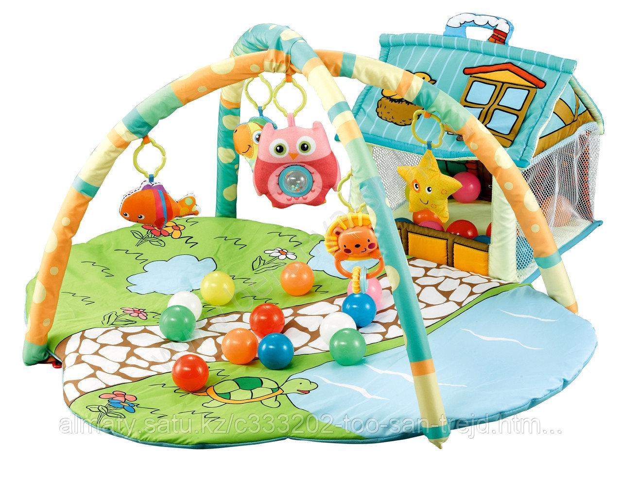 Детский развивающий коврик  с набором шариков(30шт)