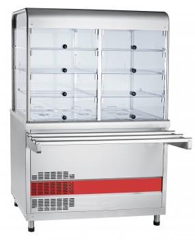 Прилавок-витрина холодильный ПВВ(Н)-70КМ-С-02-НШ вся нерж. с гастроемкостями (1120 мм)