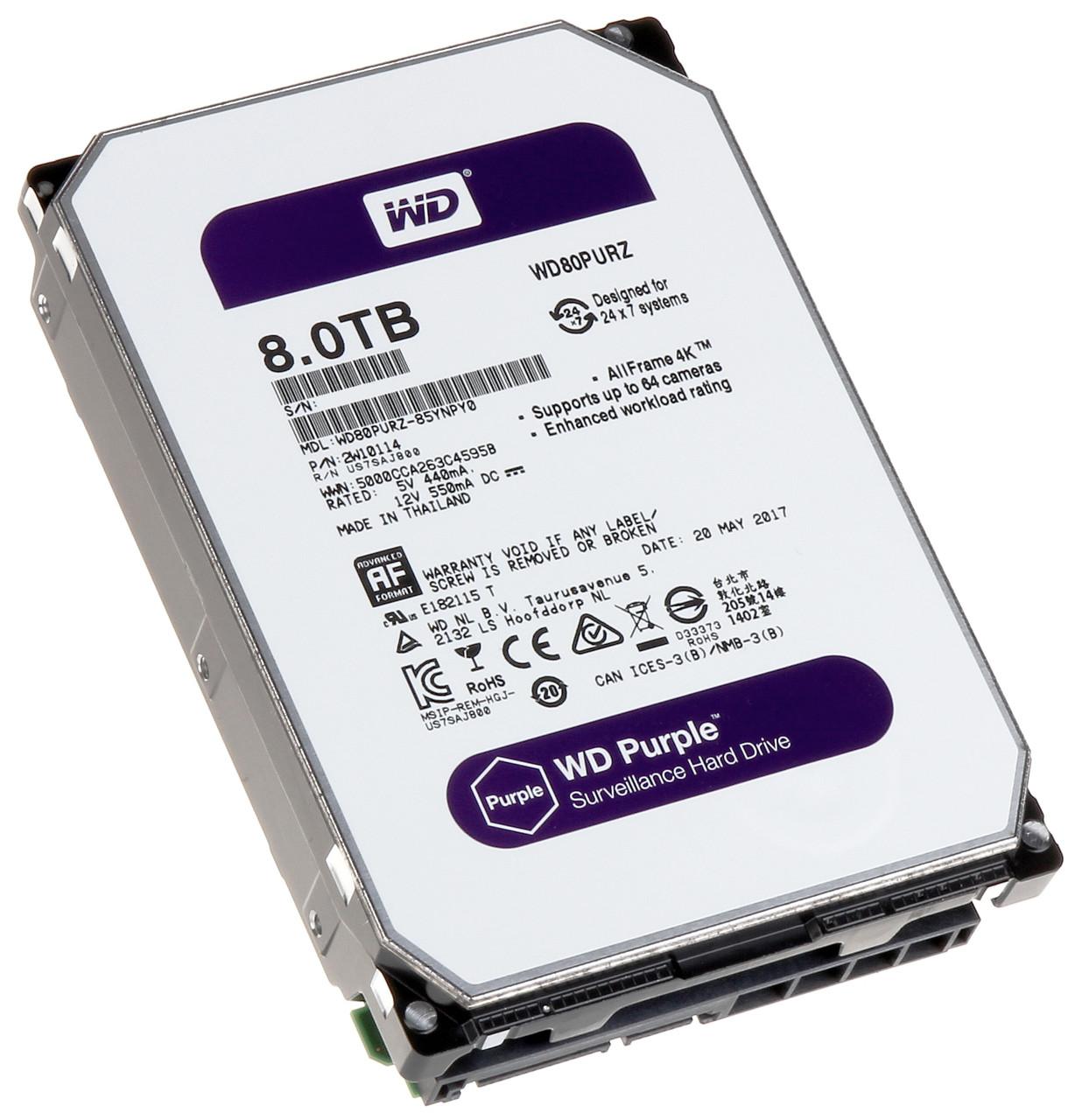 Внутренний  жесткий диск HDD 8000Gb Purple Western Digital