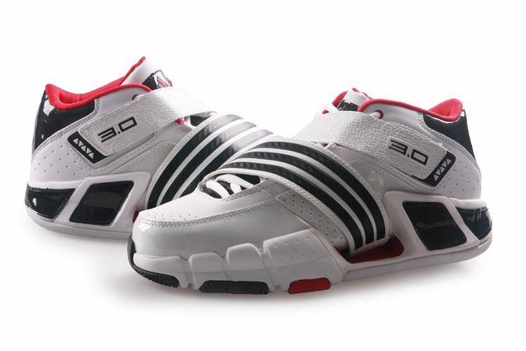 Баскетбольные кроссовки Adidas T-Mac 3 (Tracy McGrady) бело-красные