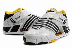 Баскетбольные кроссовки Adidas T-Mac 3 (Tracy McGrady) бело-желтые, фото 2