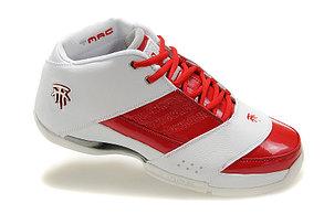Баскетбольные кроссовки Adidas T-Mac 6 (Tracy McGrady) бело-красные, фото 2