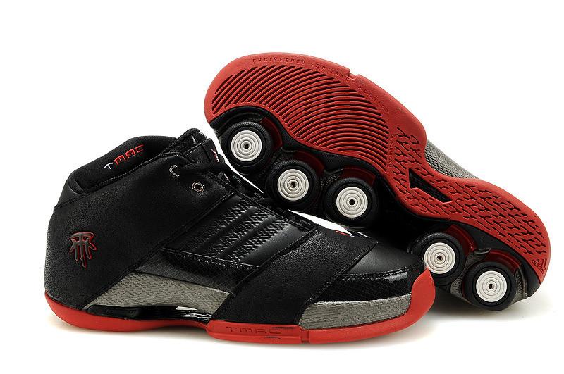 Баскетбольные кроссовки Adidas T-Mac 6 (Tracy McGrady) черно-красные