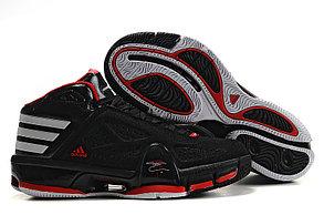 Баскетбольные кроссовки Adidas T-Mac 8 (Tracy McGrady) черно-красные, фото 2
