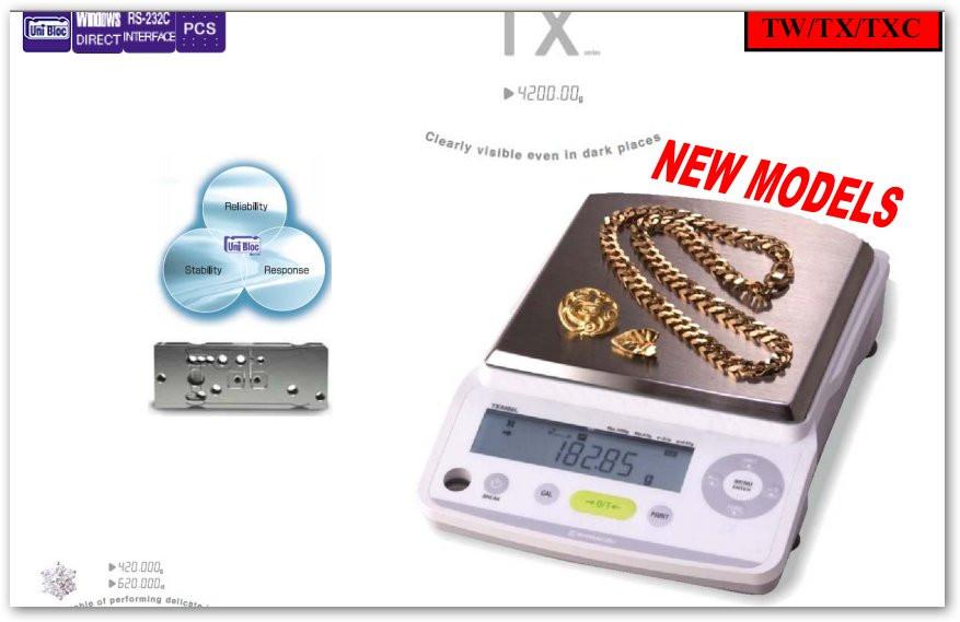 Весы лабораторные электронные TX423L, НПВ 420г, d=0,001г; внешняя калибровка; платформа d-110 мм