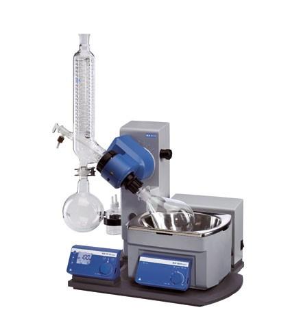 Ротационный испаритель RV 10 basic V, термобаня, вертикальный холодильник, 20-280 об/мин