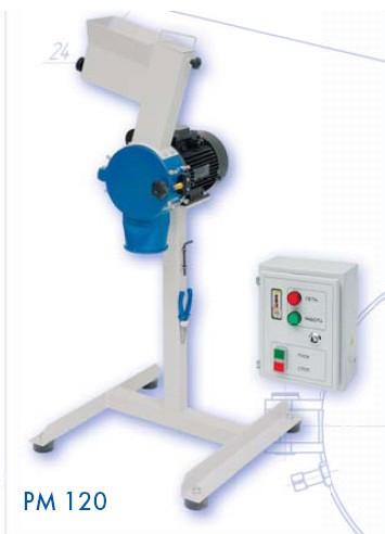 Мельница ножевая РМ 120 для дробления полимерных и растительных материалов (1-50 кг/час; 220В;1,5кВт,1500 об/мин)