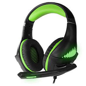 Наушники игровые CMGH-2102 Black&Green, фото 2