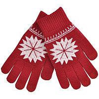 """Перчатки для сенсорных экранов  """"Снежинка"""", Красный, -, 20600 08"""