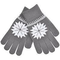 """Перчатки для сенсорных экранов  """"Снежинка"""", Серый, -, 20600 30"""