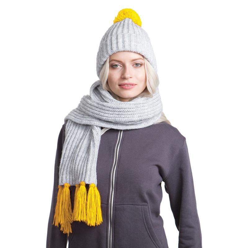 Вязаный комплект GoSnow с фурнитурой, Желтый, -, 24110 04