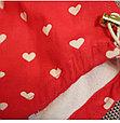 Многоразовые трусики подгузники для бассейна с высокой талией красные сердечки, фото 5