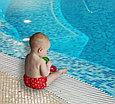 Многоразовые трусики подгузники для бассейна с высокой талией красные сердечки, фото 4