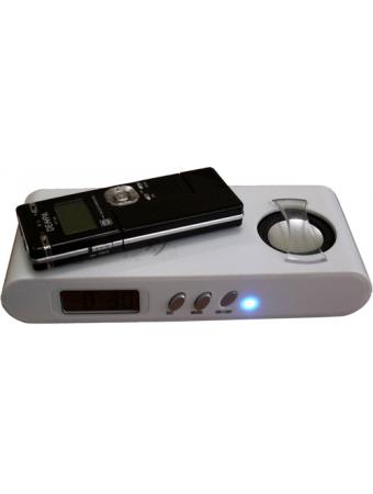Миниатюрный усилитель звука с часами и будильником без подключения