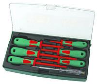 Набор отверток диэлектрических PH# 0х60, 1х80, 2х100, SL 4х100, 5,5х125, 6,5х150, индикаторная отвертка 220-250V, 7 предметов
