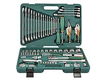 """Универсальный набор торцевых головок 1/4""""DR 5-12 мм и 1/2""""DR 12-32 мм, отверток, комбинированных ключей 6-24 мм, разрезных ключей 8-19 мм и угловых"""