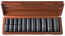 """Набор головок торцевых глубоких для ударного инструмента 1/2""""DR, 10-24 мм, 11 предметов"""