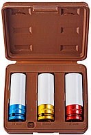 """Набор головок торцевых для ударного инструмента 1/2""""DR, 17,19,21 мм, 3 предмета (пластик, цвет)"""