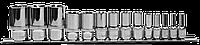 "Набор головок торцевых глубоких 1/4"", 3/8"", 1/2""DR на держателе, внешний TORX®, E4-E24, 14 предметов"
