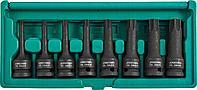 """Набор ударных головок Torx 1/2DR"""", Т30 - T80, 78 мм, 8 предметов, фото 1"""