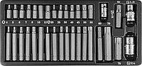 Набор вставок-бит 10 мм шестигранных Н4-12мм, TORX® Т20-Т70 (30 и 75 мм) и адаптеров 3/8''DR и 1/2''DR, 35 предметов