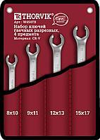 W4S4TB Набор ключей разрезных в сумке 8-17 мм, 4 предмета