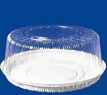 Крышка кругл. торт. 2,5-3 кг, внешн. d-345мм, h-143мм, внутр. d-300мм, h-121мм, прозрачная, (75134) ОПС, 90 шт