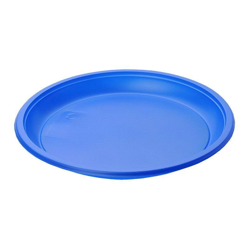Тарелка d 210мм, синяя, ПС, 12 шт