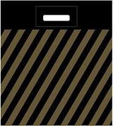 Пакет (мешок) проруб. ПВД 40х50см, 45мкм, Полоса (рейтер), 50 шт