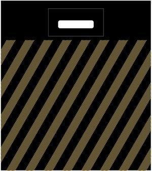 Пакет (мешок) проруб. ПВД 40х50см, 45мкм, Полоса (рейтер), 50 шт, фото 2