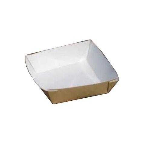 Упаковка ECO TRAY 550 для бургера, картофеля фри, чиабатты, 550мл, 110х110х42мм, коричн., картон, 300 шт, фото 2