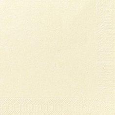 Салфетки 33х33см, 2 сл., ваниль, Бумага, 125 шт