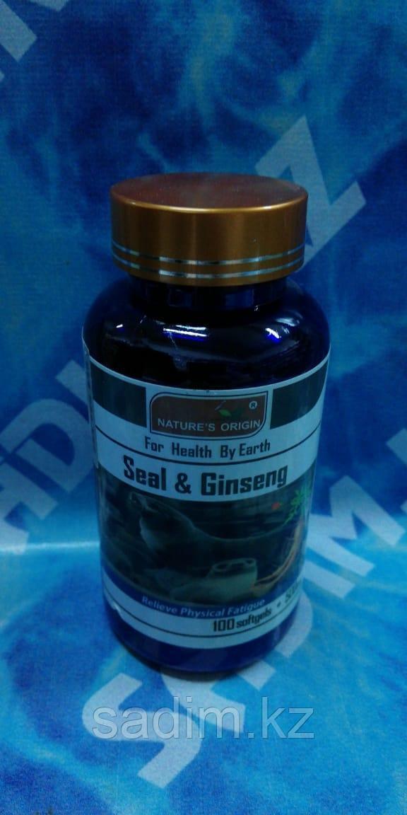 Капсулы Омега-3 и Женьшень - Seal and Ginseng