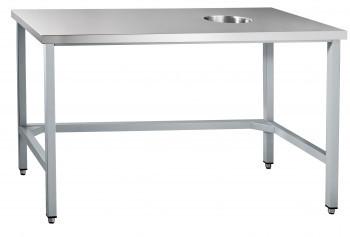 Стол для сбора отходов ССО-1 (800x700x860 мм) каркас крашен