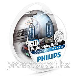 Лампа PHILIPS H11/W5W Crystal vision 12362 12v S2