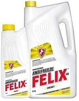 Антифриз FELIX красный, зеленый, желтый и синий 5кг.