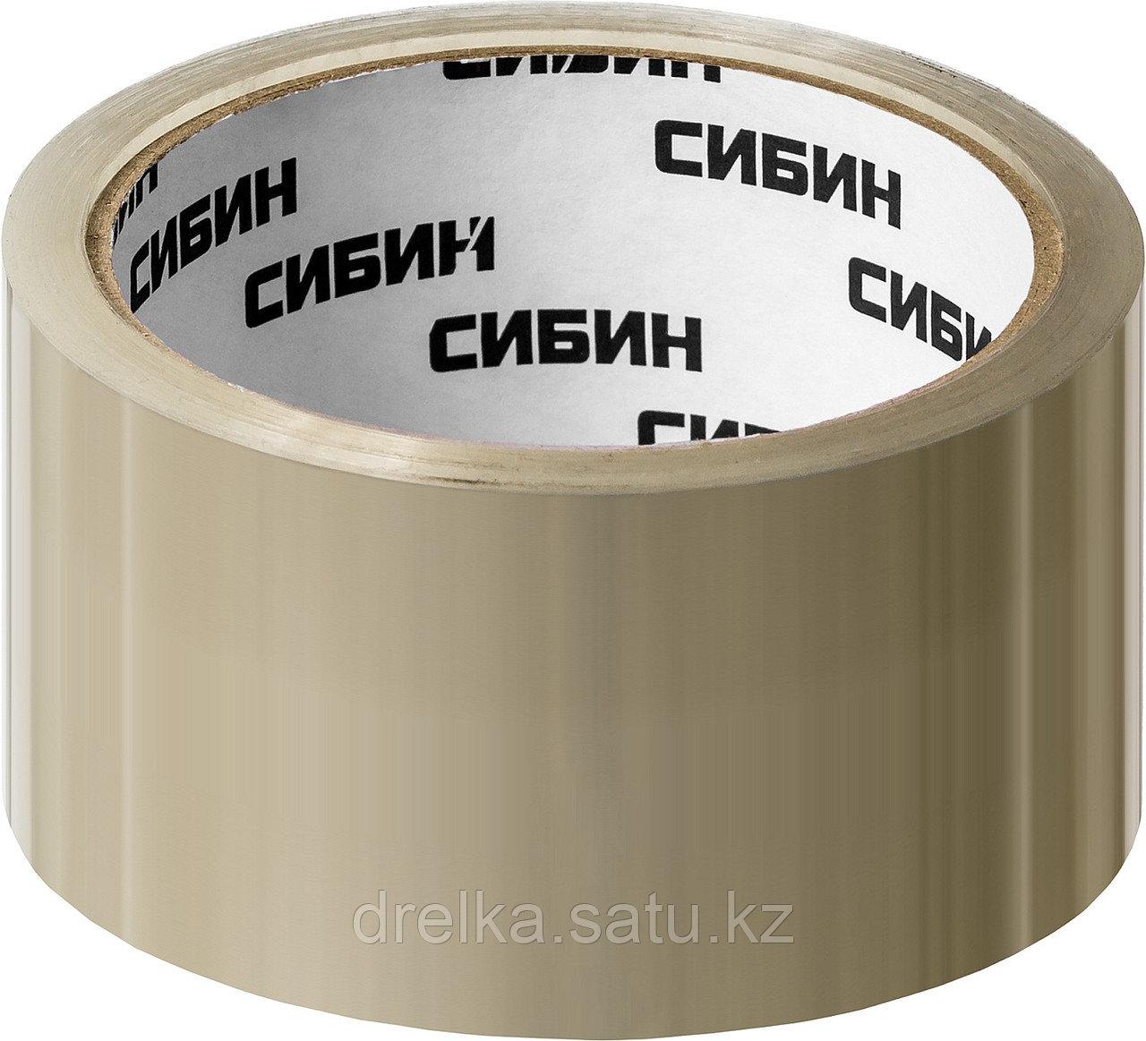 Клейкая лента, СИБИН 12055-50-50, прозрачная, 48мм х 50м