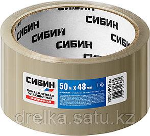 Клейкая лента, СИБИН 12055-50-50, прозрачная, 48мм х 50м, фото 2