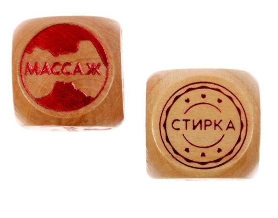 """Кубики деревянные """"Шаловливые дела"""""""