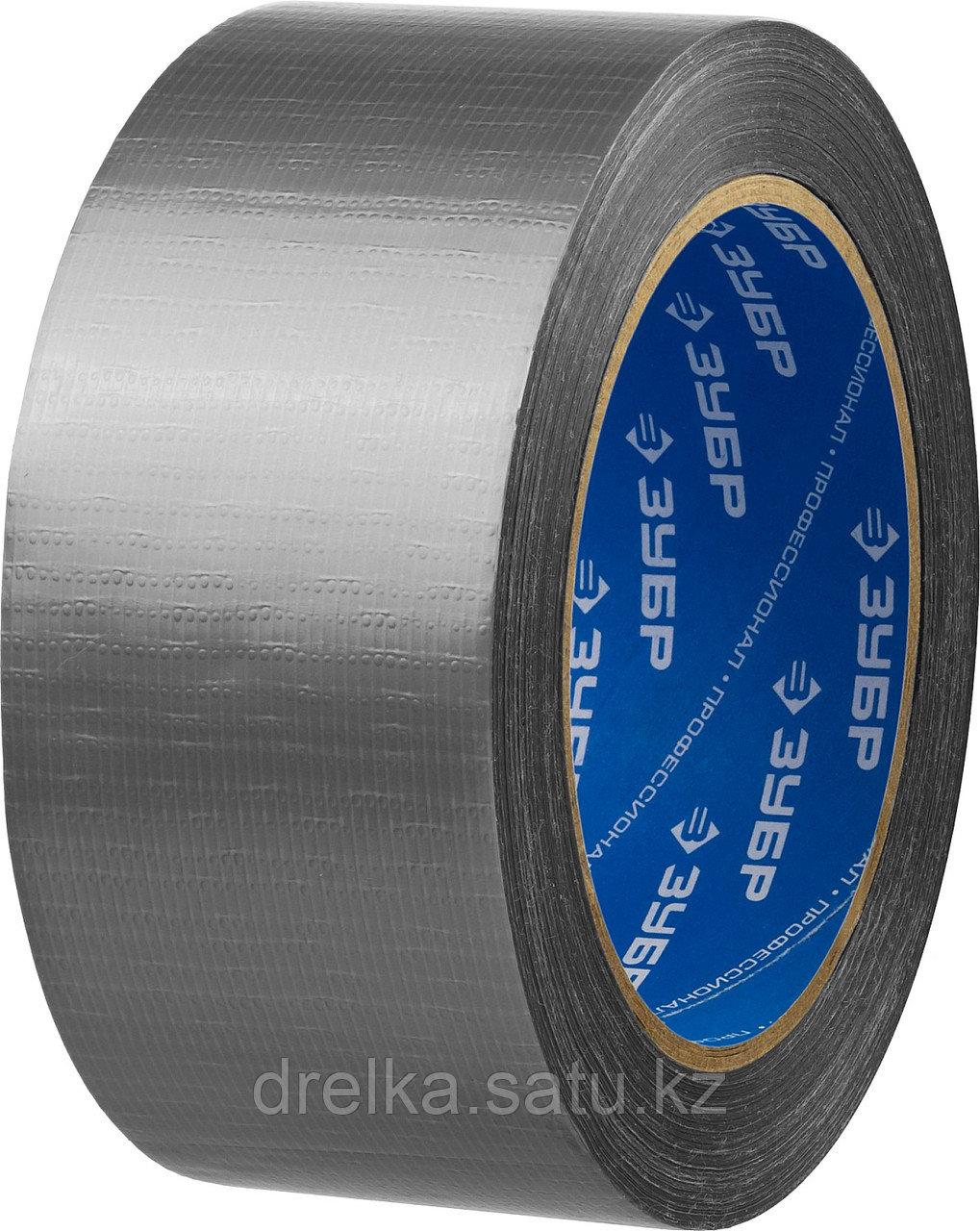 Армированная лента, ЗУБР Профессионал 12090-50-25, универсальная, влагостойкая, 48мм х 25м, серебристая