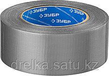 Армированная лента, ЗУБР Профессионал 12090-50-50, универсальная, влагостойкая, 48мм х 45м, серебристая, фото 2