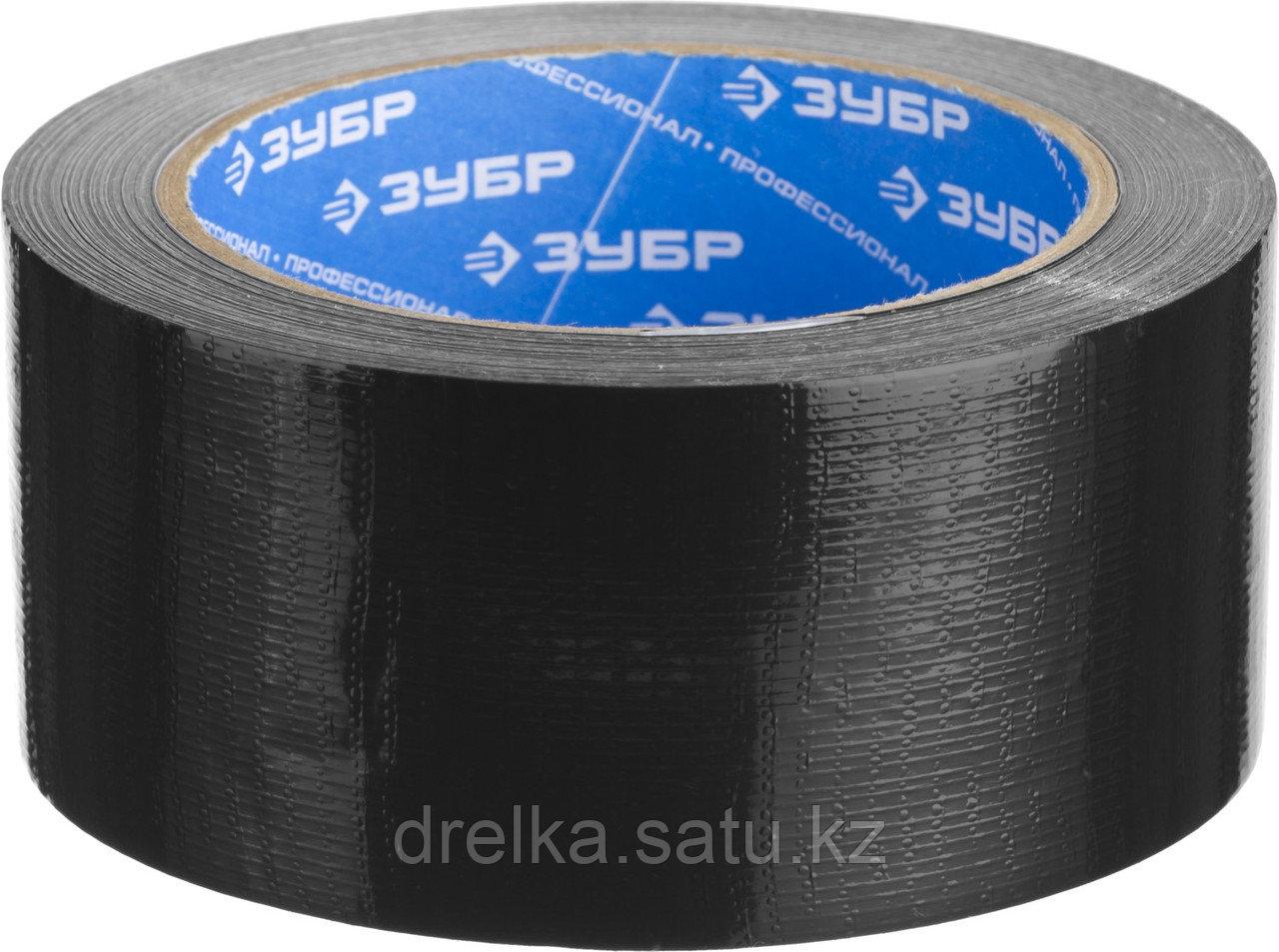 Армированная лента, ЗУБР Профессионал 12096-50-10, универсальная, влагостойкая, 48мм х 10м, черная